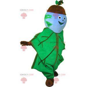 Acorn mascot with an oak leaf outfit - Redbrokoly.com
