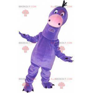 Velmi roztomilý maskot obřího fialového dinosaura -
