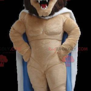 Lion king mascot with a cape and a crown - Redbrokoly.com
