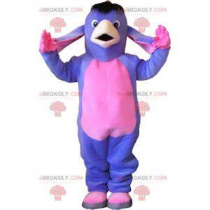 Purple and pink donkey mascot. Mule mascot - Redbrokoly.com