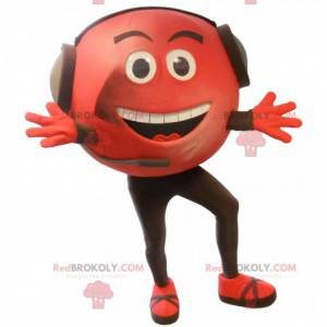 Velký obří červená hlava maskot - Redbrokoly.com