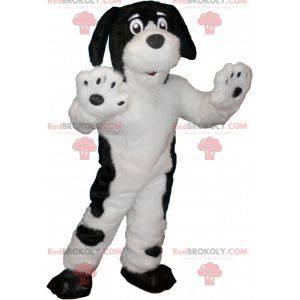 Hvit hundemaskot med svarte flekker - Redbrokoly.com