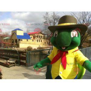 Riesenmaskottchen der grünen und gelben Schildkröte -