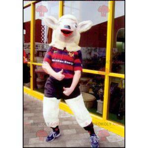 Mascote cabra cabra cabra em roupas esportivas - Redbrokoly.com