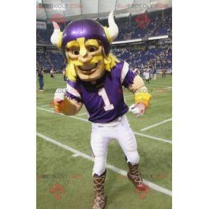 Mascote viking loira jogador de beisebol - Redbrokoly.com