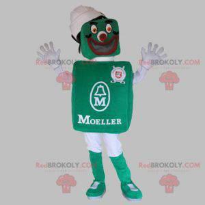Velmi usměvavý maskot sněhuláka zelené a bílé - Redbrokoly.com