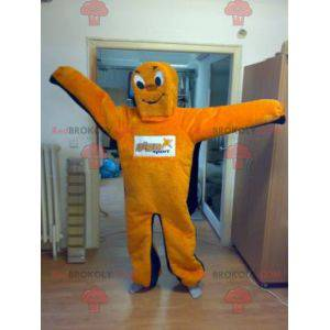 Obří oranžové a modré sněhulák maskot - Redbrokoly.com