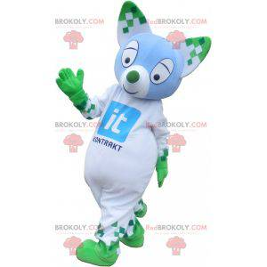 Colorful cat mascot with pointy ears - Redbrokoly.com