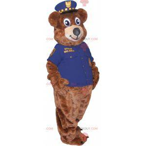 Braunbärenmaskottchen als Polizist verkleidet - Redbrokoly.com