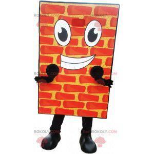 Gigantisk og smilende maskot med rød murstein - Redbrokoly.com