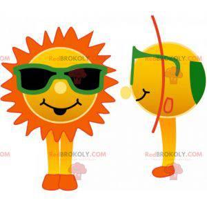 Sluneční maskot se zelenými brýlemi - Redbrokoly.com