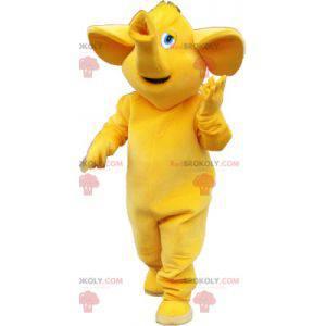 Maskot velký slon celý žlutý - Redbrokoly.com