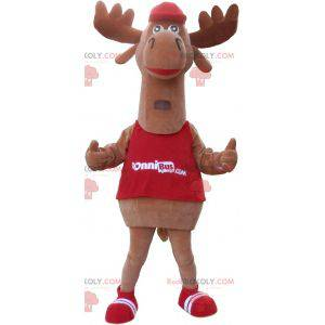 Brown caribou elk mascot. Reindeer mascot - Redbrokoly.com
