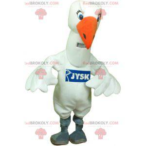 Maskot velký bílý pták bílého racka - Redbrokoly.com