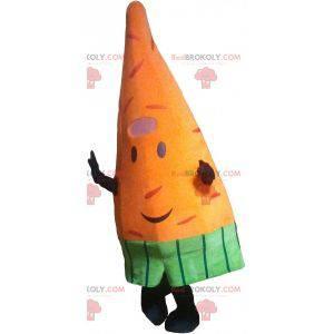 Maskot obří oranžová mrkev. Zeleninový maskot - Redbrokoly.com