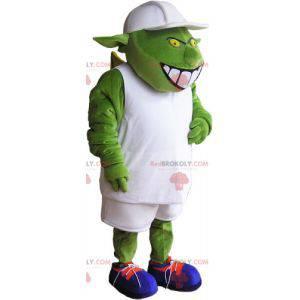 Grønn fremmed alien monster maskot - Redbrokoly.com