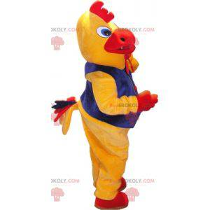 Gul og rød hane fugl maskot med kostyme - Redbrokoly.com