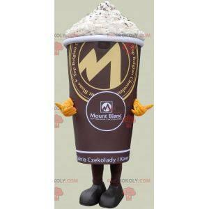 Schokoladengetränk Maskottchen mit Schlagsahne - Redbrokoly.com
