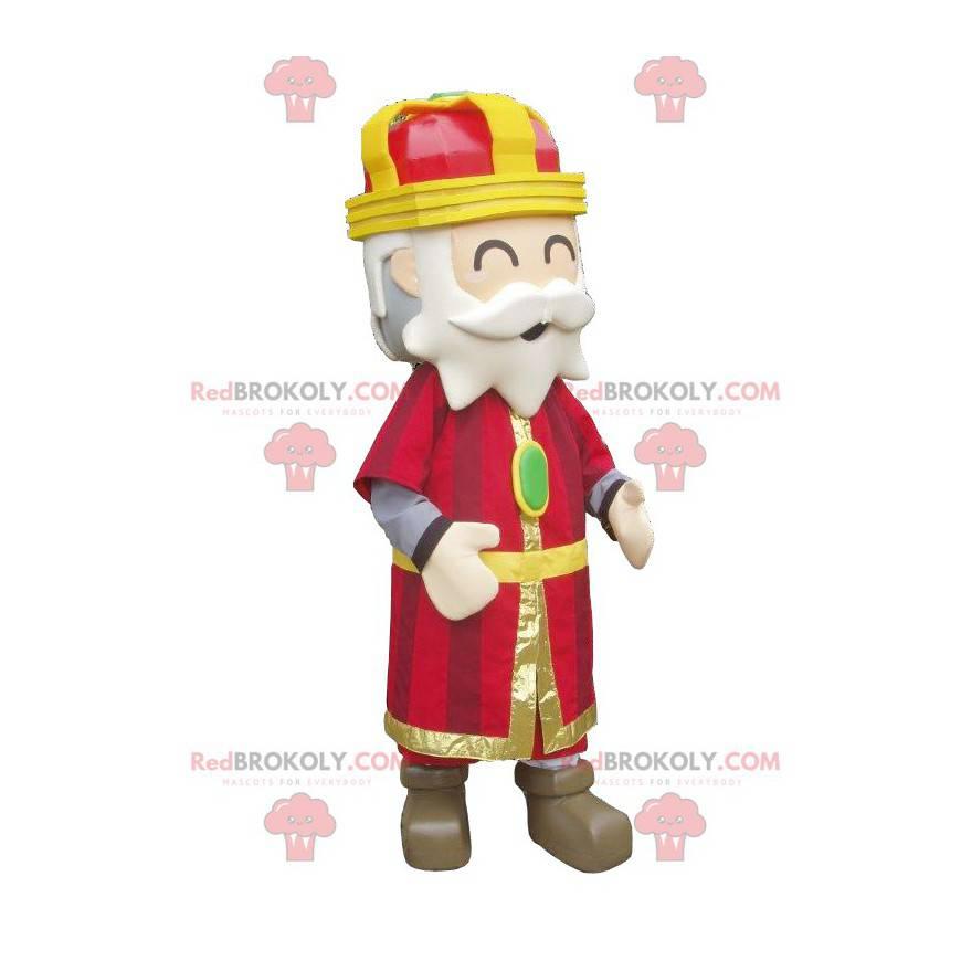 Barevný a žoviální král maskot - Redbrokoly.com