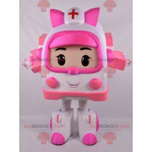 Maskot bílé a růžové sanitky Transformers way - Redbrokoly.com