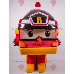 Maskot hasičských aut ve stylu Transformers - Redbrokoly.com