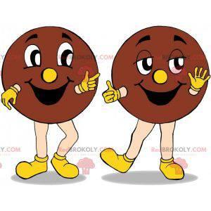 2 gigantiske cookie maskotter. 2 kager - Redbrokoly.com