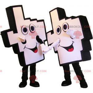 2 podporovatelé ručních maskotů. 2 obří ruce - Redbrokoly.com