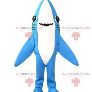 Velmi zábavný maskot modrého a bílého žraloka - Redbrokoly.com