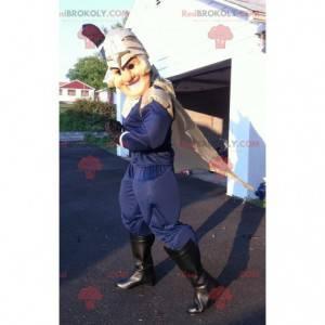 Knight superhelt maskot med hjelm - Redbrokoly.com