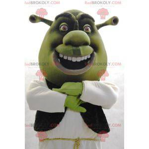 Mascota de Shrek famoso personaje de dibujos animados verde -