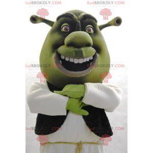 Shrek mascote famoso personagem de desenho animado verde -