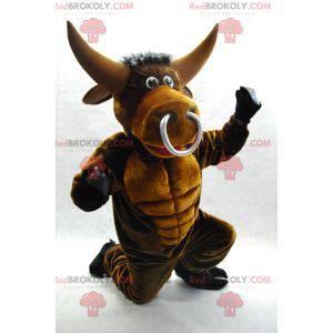 Velmi působivý maskot hnědého býka - Redbrokoly.com