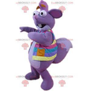 Acquista la mascotte Tico scoiattolo viola in Dora