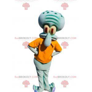 Mascot Carlo Tentacle famoso calamar bob esponja -
