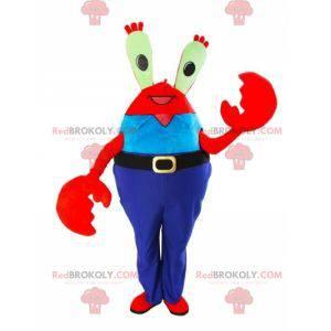 Mascot Mr. Krabs famoso cangrejo rojo en SpongeBob SquarePants