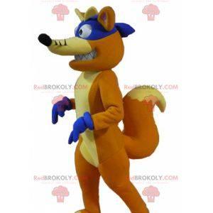 Mascot Chipeur famoso zorro en Dora la exploradora -