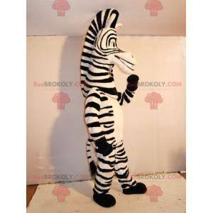 Marty mascot famous zebra from Madagascar cartoon -