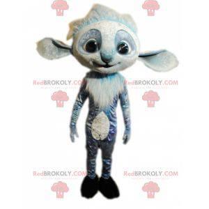 Blue and funny hairy creature mascot - Redbrokoly.com
