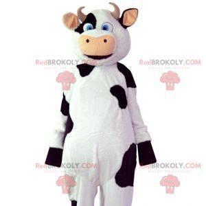 Maskot bílá a černá kráva. Kráva kostým - Redbrokoly.com