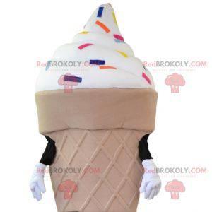 Mascote de sorvete. Mascote de casquinha de sorvete -