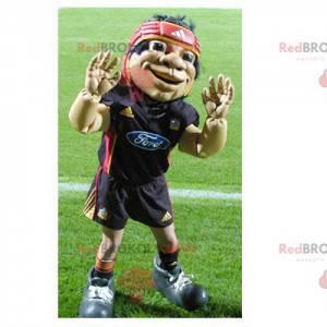 Rugbyspiller maskot - Redbrokoly.com