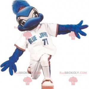 Blue jay pták maskot v sportovní oblečení - Redbrokoly.com