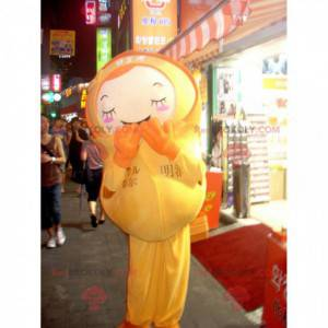 Doll mascot in yellow outfit - Redbrokoly.com