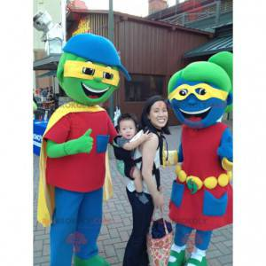 2 colorful boy and girl mascots - Redbrokoly.com
