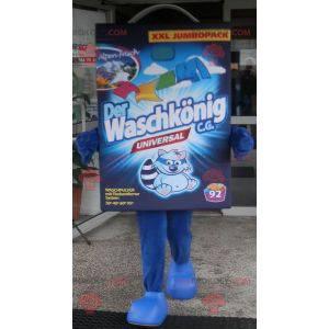 Maskot na prádlo z modré lepenky - Redbrokoly.com