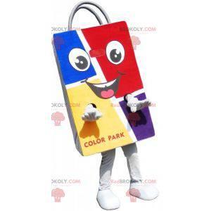 Maskotka kolorowa papierowa torba. Torba na zakupy -