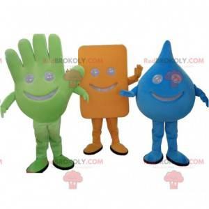 Wiele 3 maskotek o różnych kształtach - Redbrokoly.com
