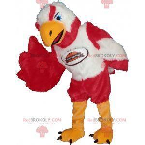 Hvit og rød fuglørngask maskot - Redbrokoly.com
