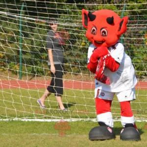 Red devil mascot imp in sportswear - Redbrokoly.com