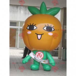 Obří oranžové dýně maskot oranžové a zelené - Redbrokoly.com